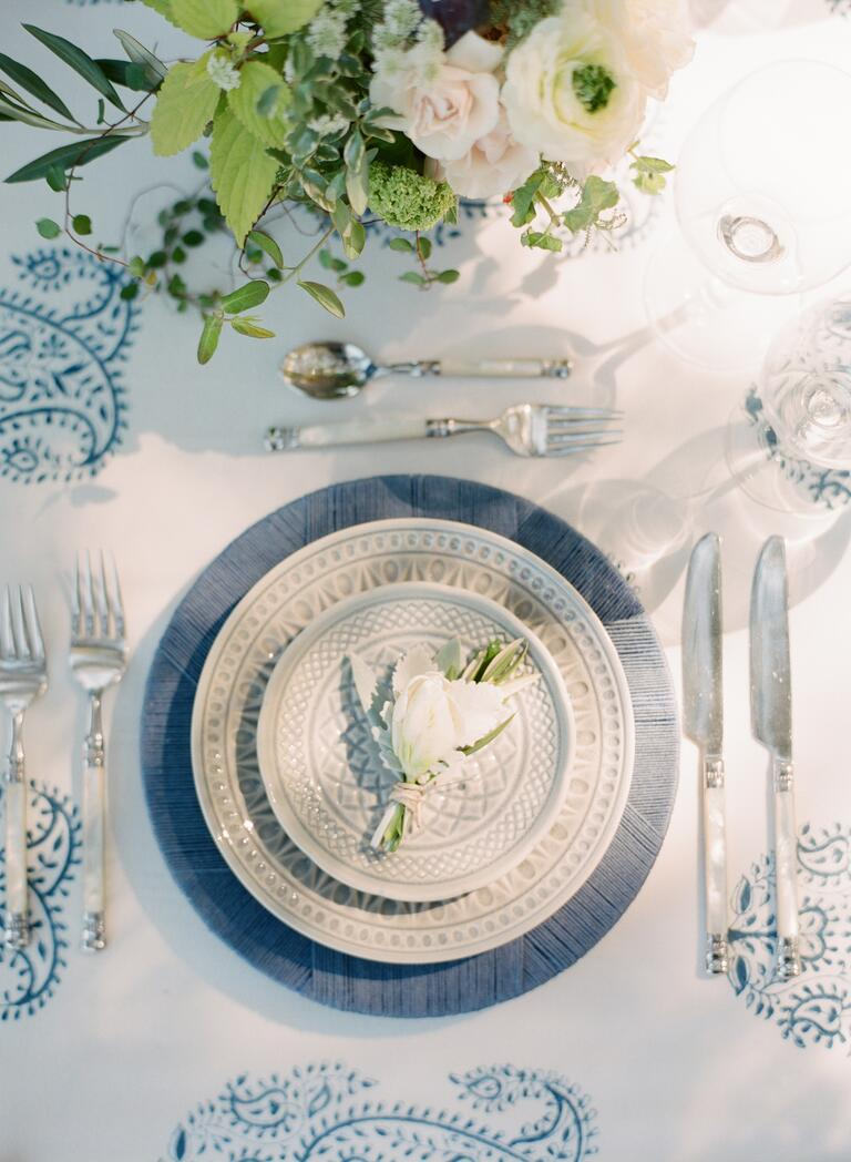 Film wedding photography of tabletop decor