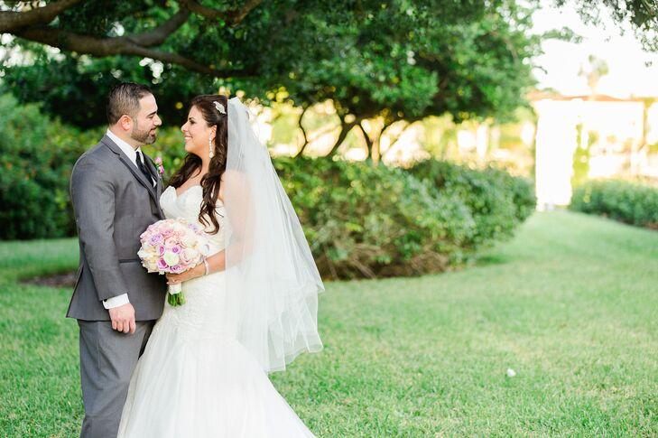 Tampa, Florida Garden Couple Shot