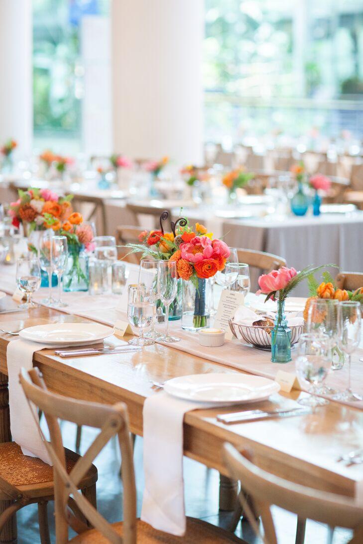 Colorful Wedding Reception Centerpieces