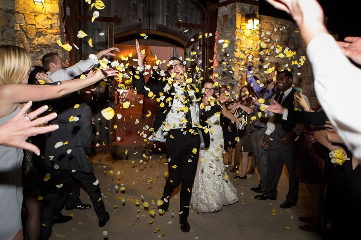 Yellow Flower Petal Recessional from One World Theatre