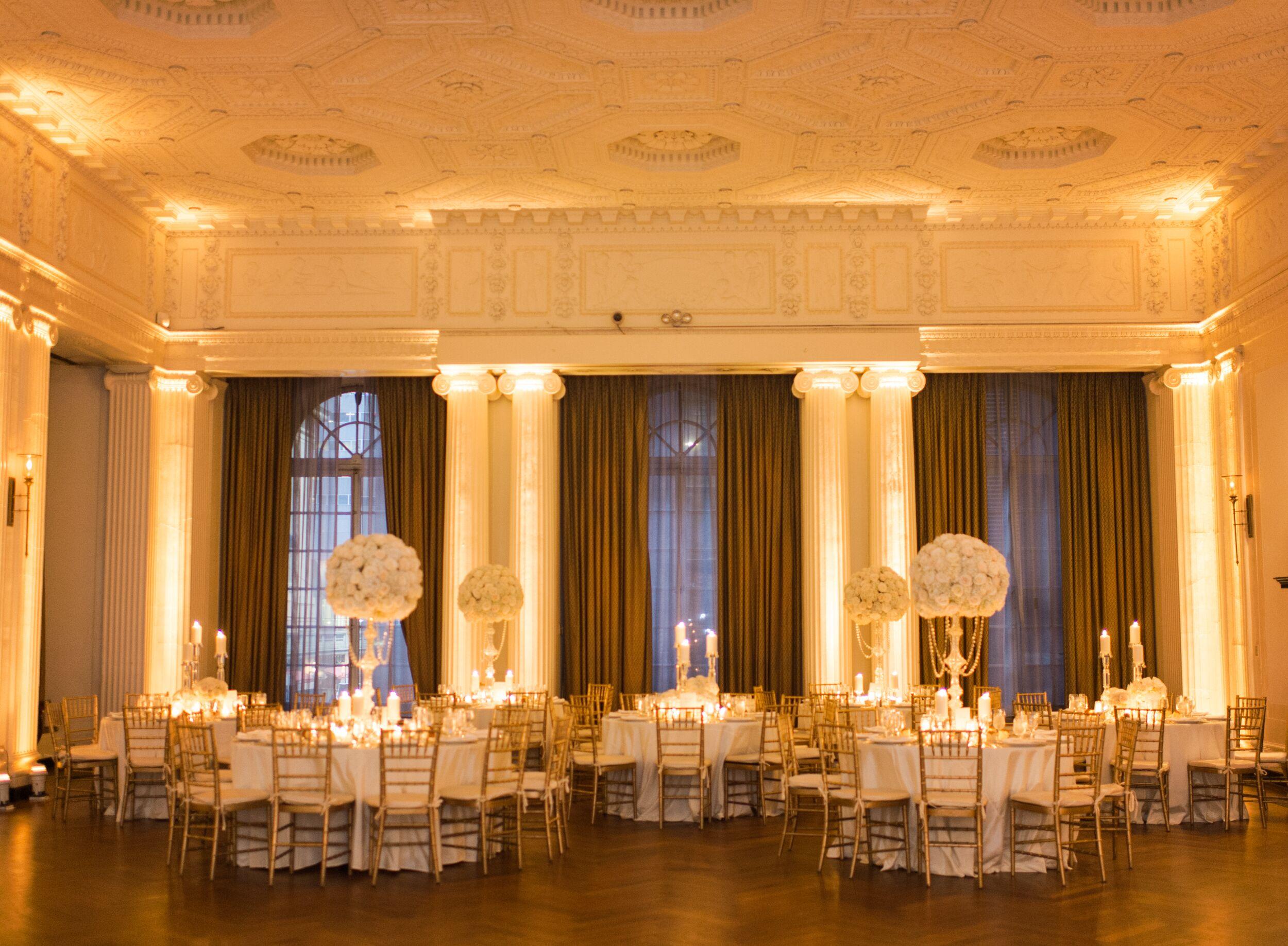 Yale Club Ballroom Wedding Reception