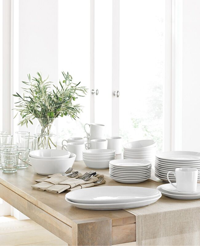 martha stewart white dinnerware & Dinnerware Finds To Satisfy Your Inner Minimalist