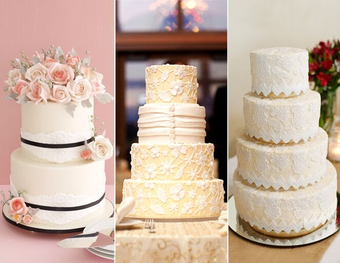 Lace wedding cake trend