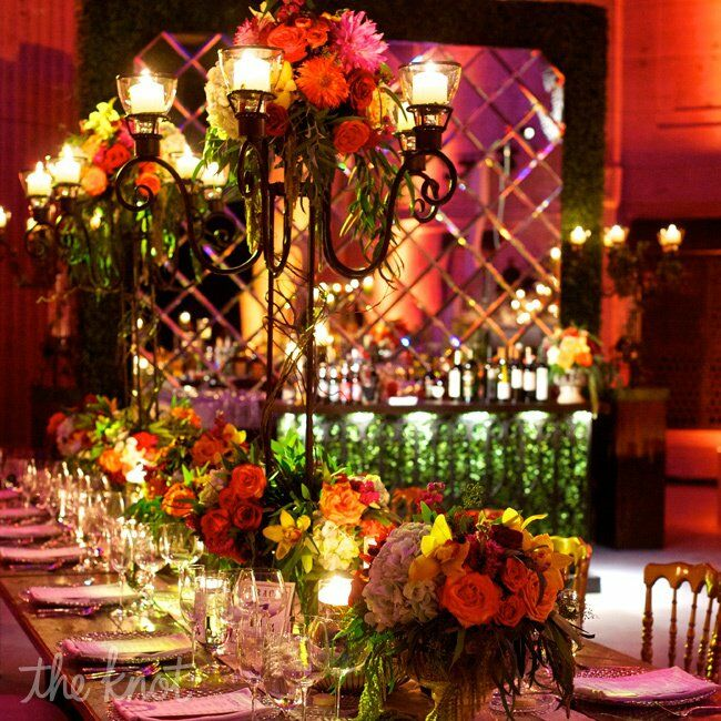 Wrought Iron Tall Centerpieces