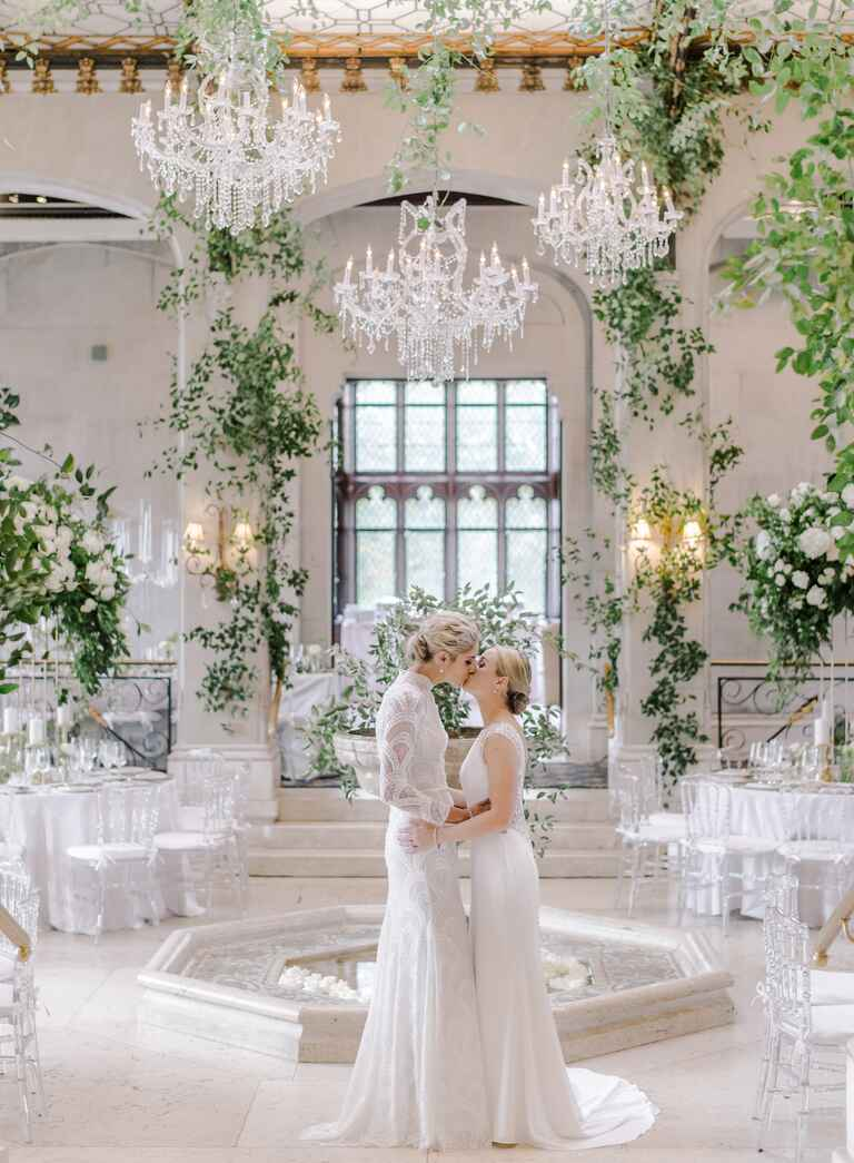 The Knot Dream Wedding 2017 Elena Delle Donne and Amanda Clifton