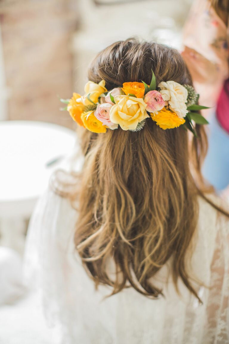 5 wedding superstitions you can ignore yellow rose flower crown ombrellifo Gallery