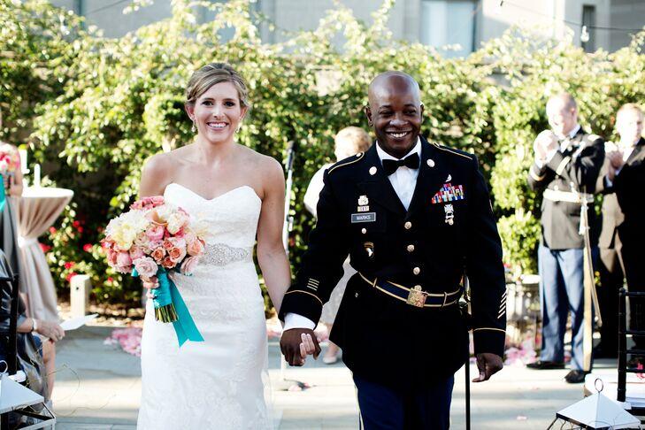 U.S. Army Groom in Military Formal Blue Uniform