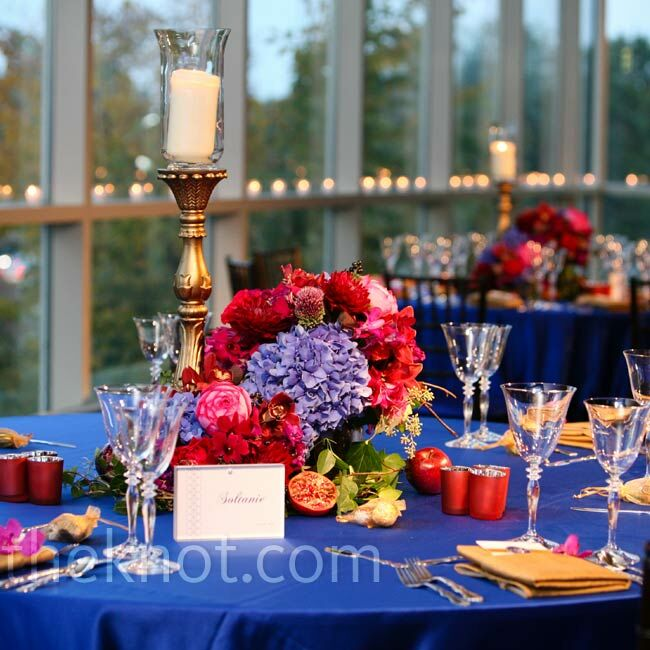 Jewel-Toned Reception Decor