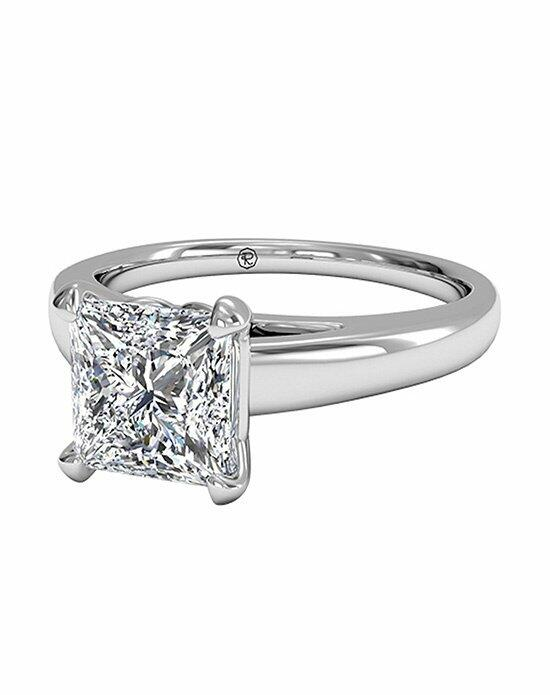 Ritani Princess Cut Solitaire Diamond Cathedral Engagement Ring in Platinum Engagement Ring photo