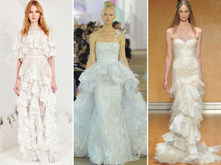 Vintage Ruffle Wedding Dress 31 Vintage wedding dress with ruffles