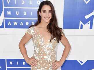 Aly Raisman at the MTV VMAs