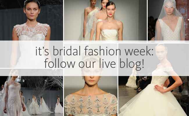 Bridal Fashion Week Live Blog