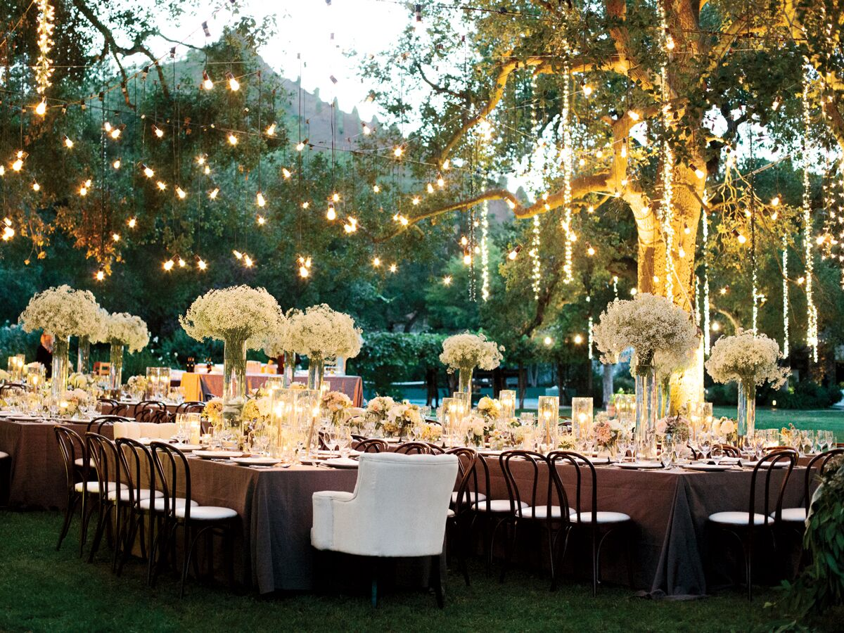 Outdoor Country Wedding Shower Ideas: Wedding Reception Lighting Basics