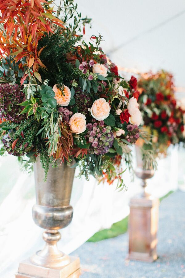 Fruit And Fall Foliage Centerpieces