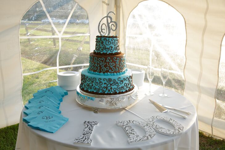 blue and brown wedding cakes blue and brown wedding cake 11942