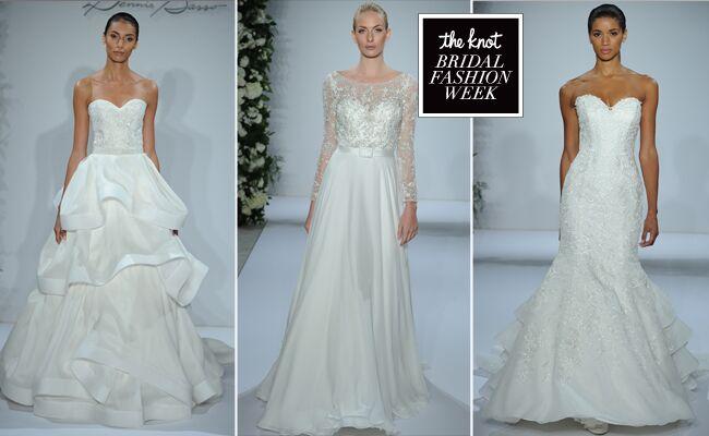 Dennis Basso Wedding Dresses 2015 Feature Cascading Ruffles for Fall