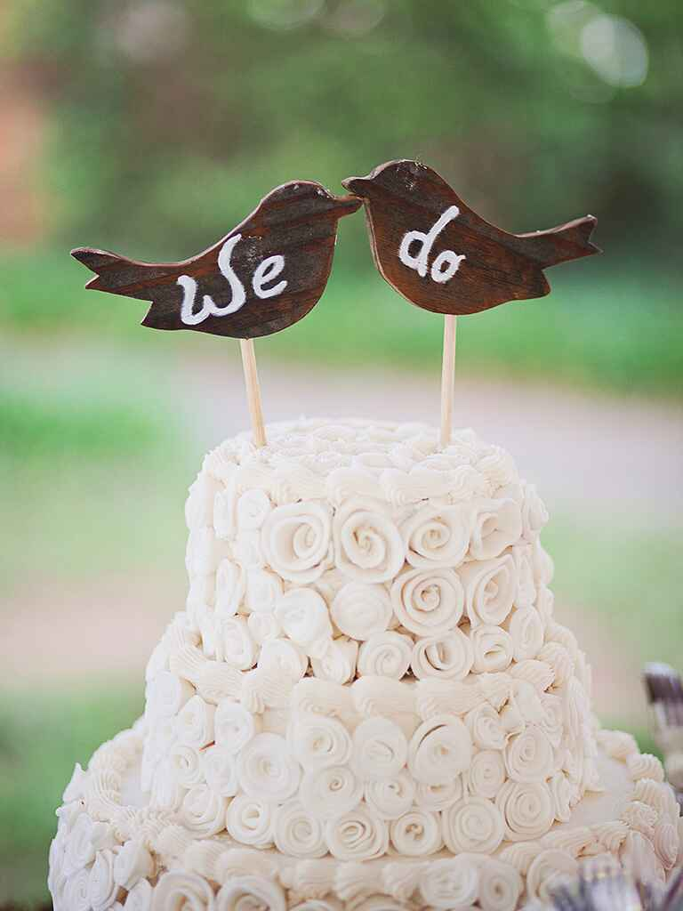 diy rustic wedding cake toppers 15 awesome diy wedding cake topper ideas 13619