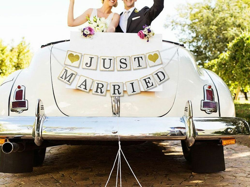 "13 Perfect Wedding Car Decorations For That ""Just Married ..."