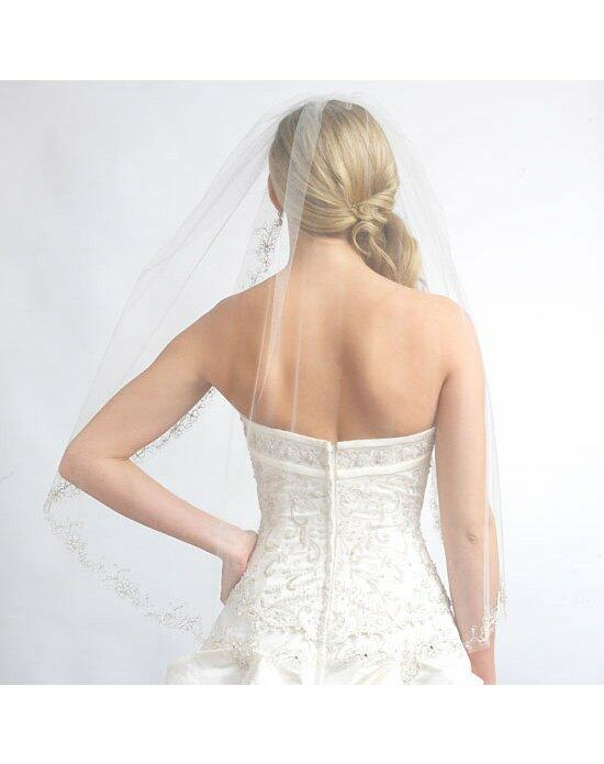 USABride 1 Layer, Nicole Floral Beaded Veil VB-5010 Wedding Veils photo