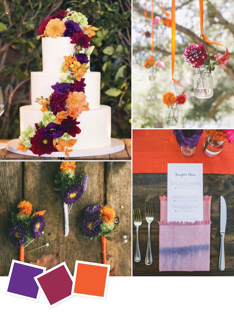 15 wedding color combos youve never seen fall wedding color inspiration junglespirit Gallery