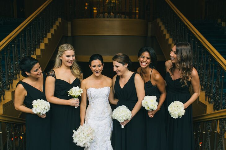 Yellow Black Bridesmaid Dresses
