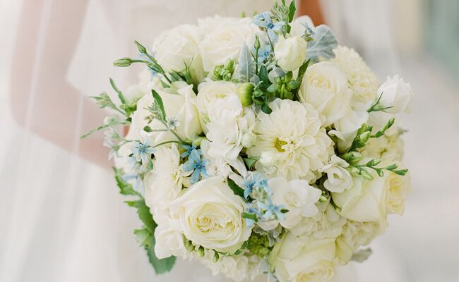 U201cSomething Blueu201d Bridal Bouquets Are A Creative Way To Tie In This Wedding  Tradition