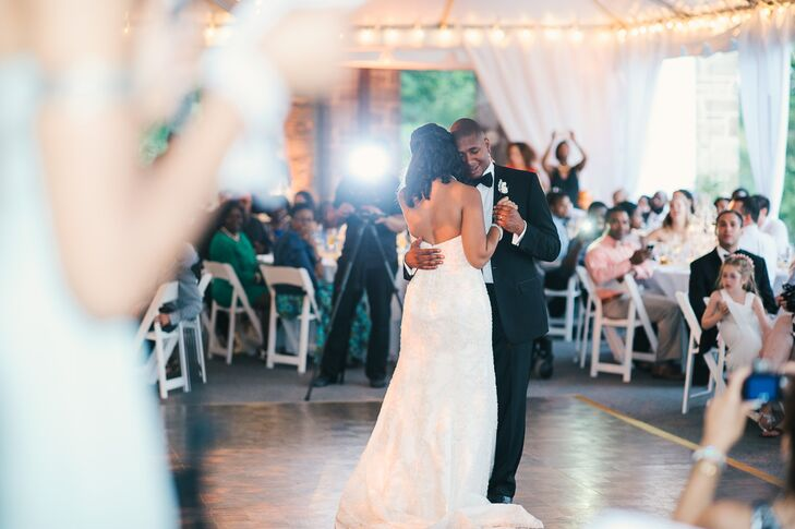 Romantic First Dance at Tented Mansion Reception