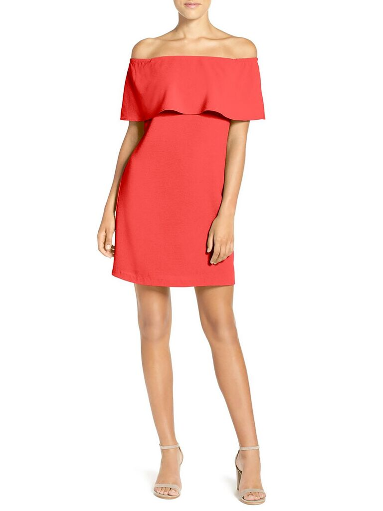 Cheap red spring dresses