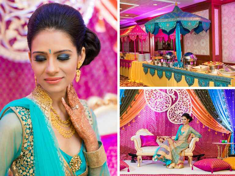 Jewel toned Indian wedding