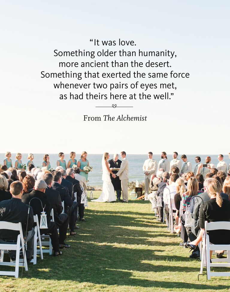 The Alchemist Wedding Ceremony Reading