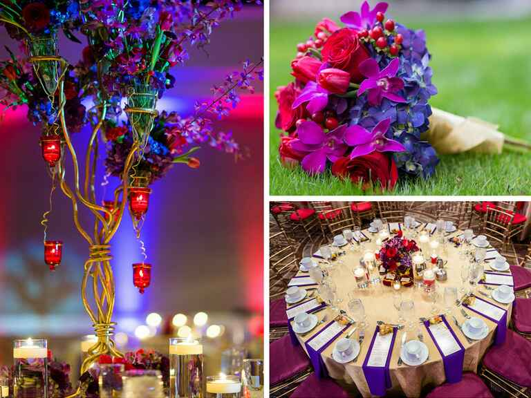 Purple and burgundy Indian wedding