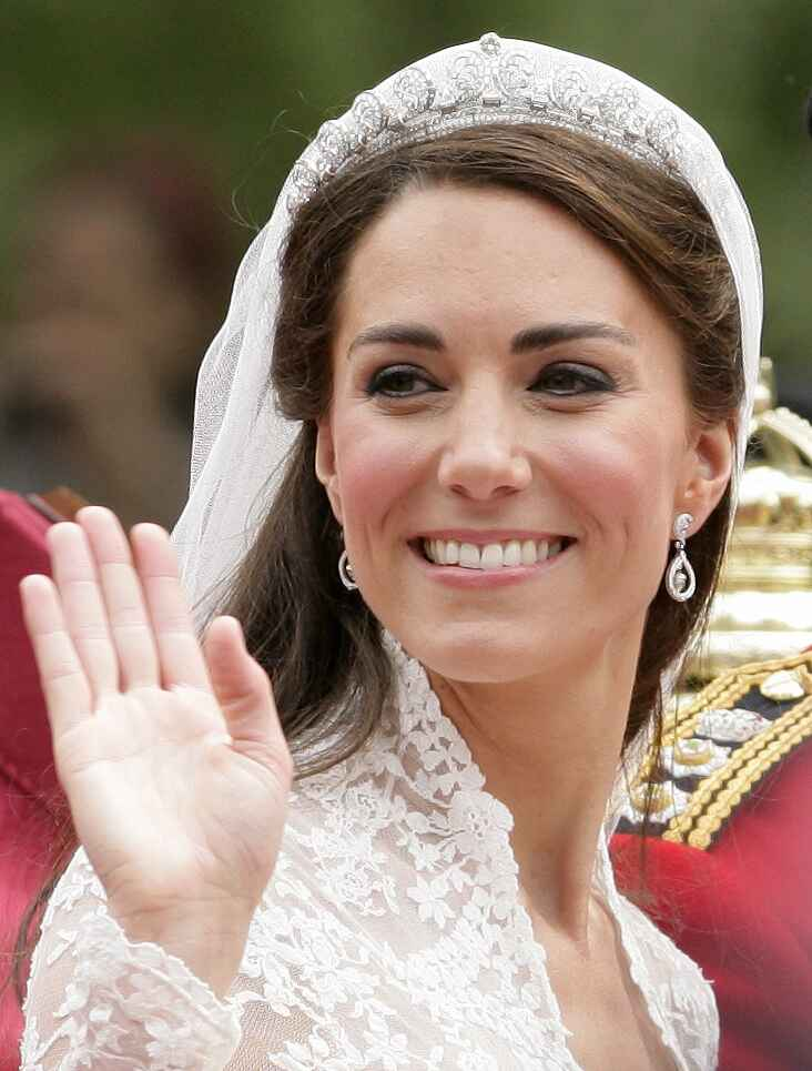 Kate Middleton on her wedding day