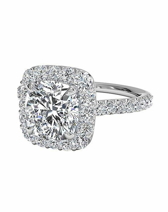 Ritani Cushion Cut French-Set Halo Diamond Band Engagement Ring in 18kt White Gold (0.45 CTW) Engagement Ring photo