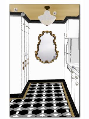 Virtual Room Makeover virtual room makeover: sophisticated new york kitchen - style