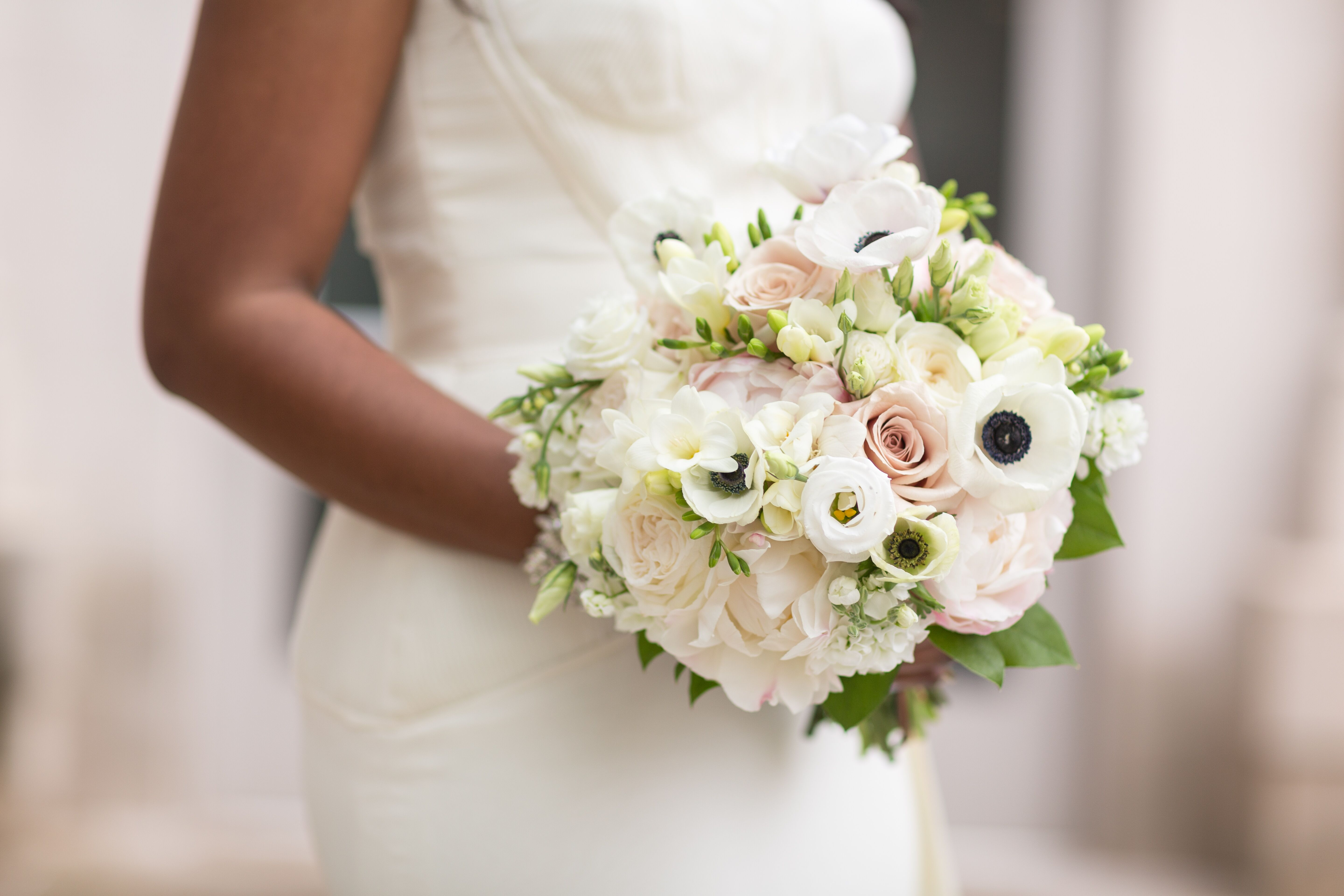 Rose Anemone And Peony Bridal Bouquet