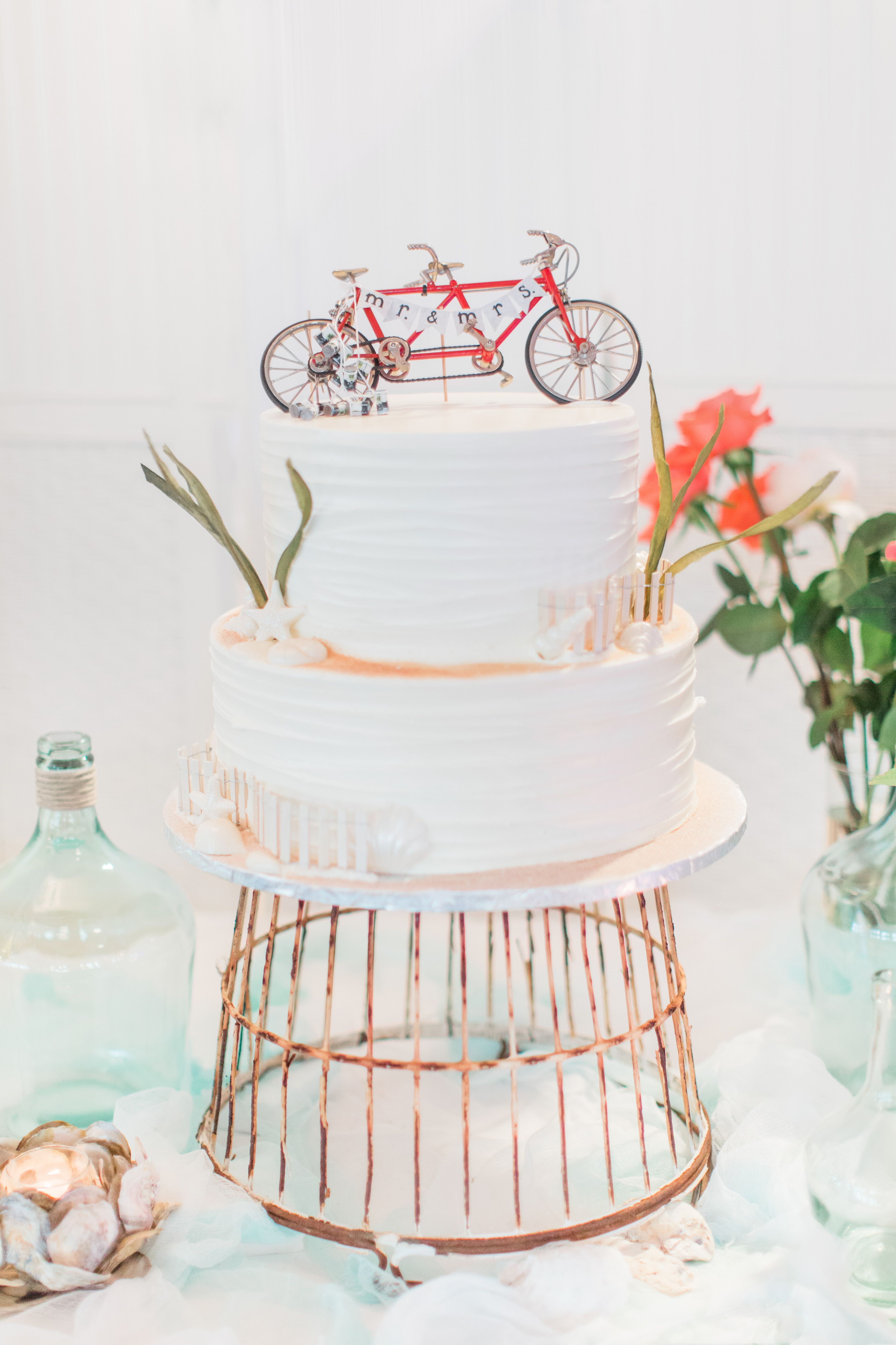 Personalized Tandem Bicycle Cake Topper