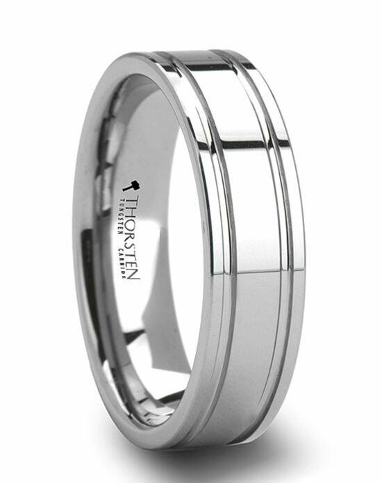 Larson Jewelers ANCHORAGE Dual Offset Grooves Mens Tungsten Carbide Wedding Ring - 6 mm & 8mm Wedding Ring photo