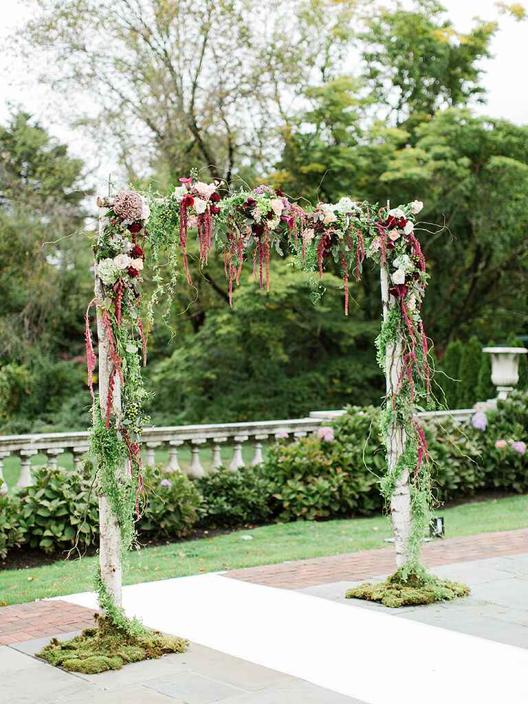 20 Best Outdoor Fall Wedding Arches for 2020 ...  |Outdoor Arch Decorations