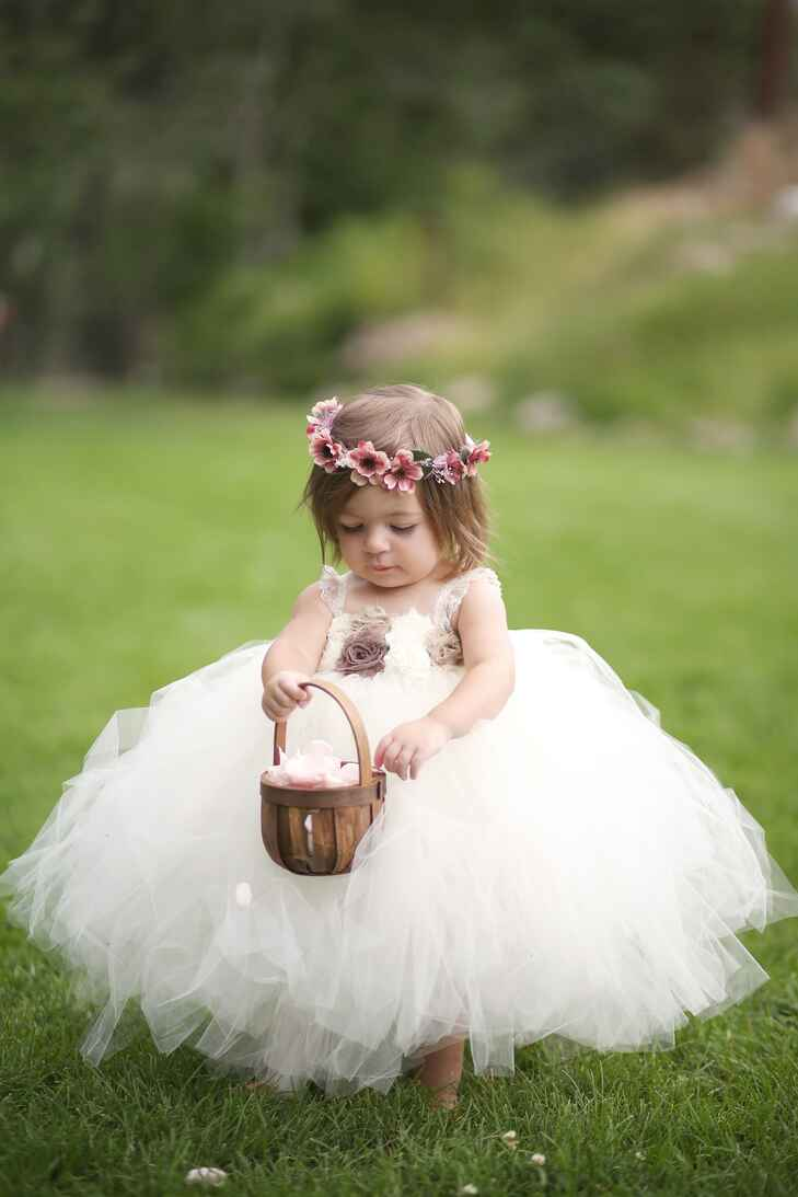 Flower girl in puffy tutu