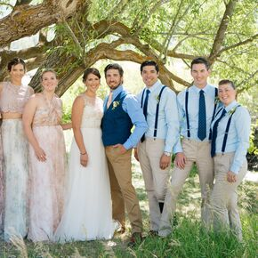 Relaxed Wedding Party Attire