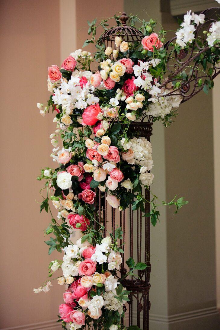 Romantic, Vintage, Garden-Inspired Wedding Arch