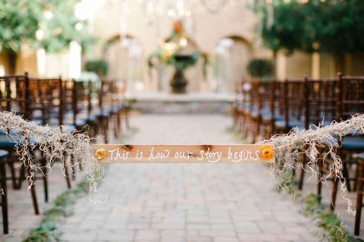 Wooden Aisle Ceremony Sign