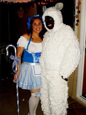 Little Bo Peep u0026 Sheep  sc 1 st  The Nest & Halloween - Costumes for Couples - Creative Costumes