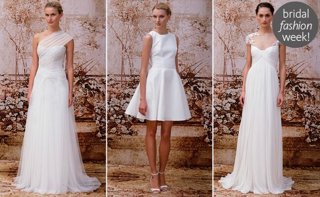 Monique Lhuillier Fall 2014 Wedding Dresses
