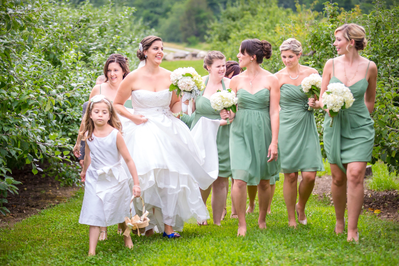 Sage Green Alfred Angelo Bridesmaid Dresses