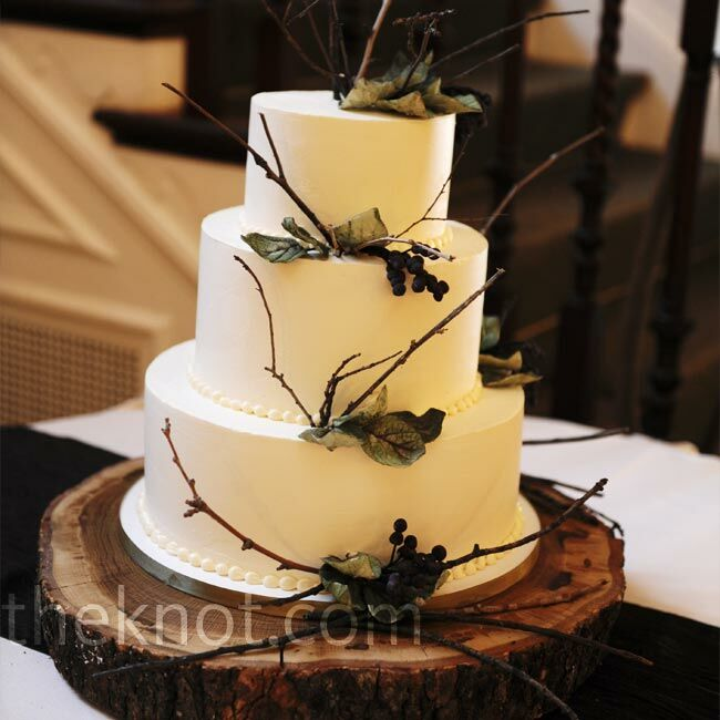Ivory Branch Cake