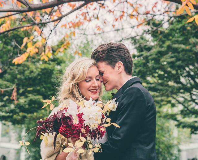 a brooklyn botanical garden wedding in brooklyn new york