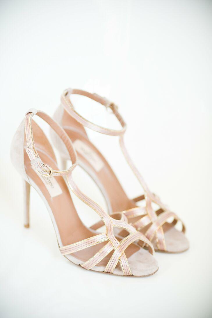 Strappy Stiletto Bridal Shoes