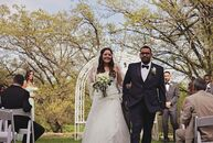 Sarahi Morales (26 and in marketing) and Omar Cordova (30 and a sales engineer) knew they wanted a farm wedding. When they visited Oak Hill Farm in Ap
