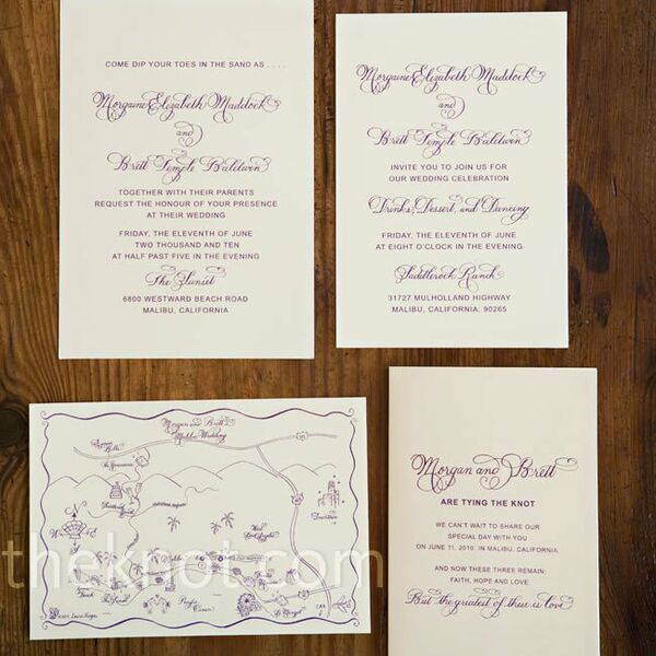 Decorative Wedding Invitation Badge 7: Beach Ceremony Decor